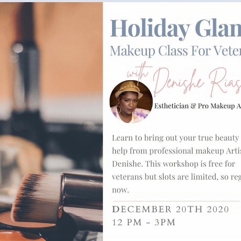 Veterans Holiday Glam Makeup Class
