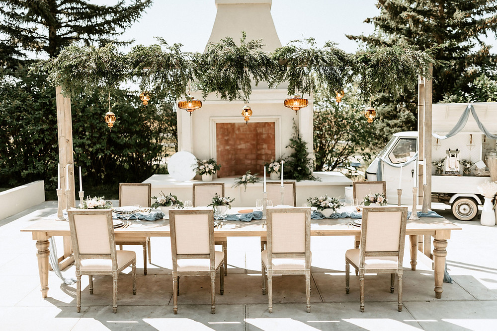 Outdoor wedding space for elopements and intimate weddings. Featured in Rocky Mountain Bride