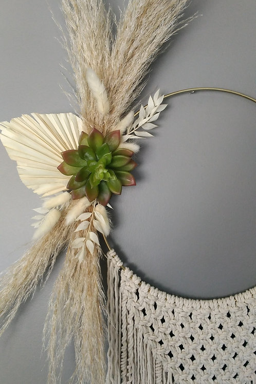 Floral Macrame Wall Hanger