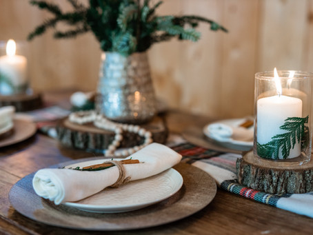 DIY Christmas Table Scape