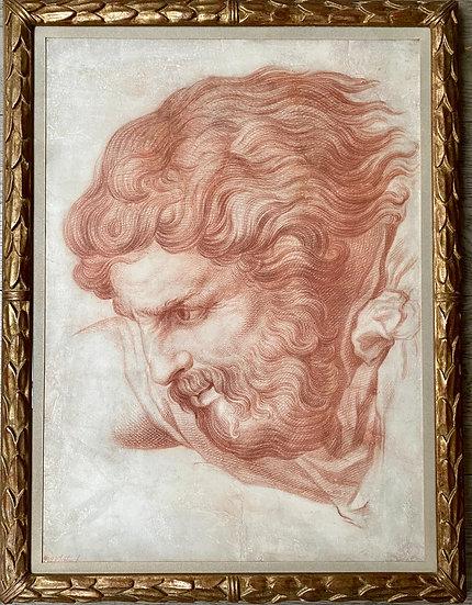 Sanguine by Nicolas-René Jollain, Paris (1732 - 1804), Study of God The Father