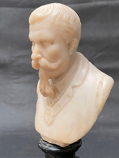 Late 19th century alabaster portrait bust of a gentleman
