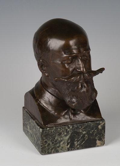 J. Rispal (1871-1910), bronze bust representing Camille Cousteau