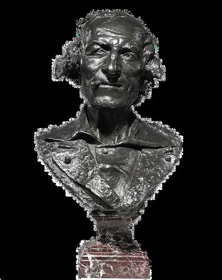 "Jean Baptiste Carpeaux, bronze bust entitled ""Le Fumeur"" (""The Smoker""), signed"
