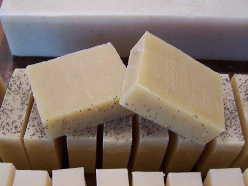 Lemon-Poppyseed Soap w/Cocoa Butter