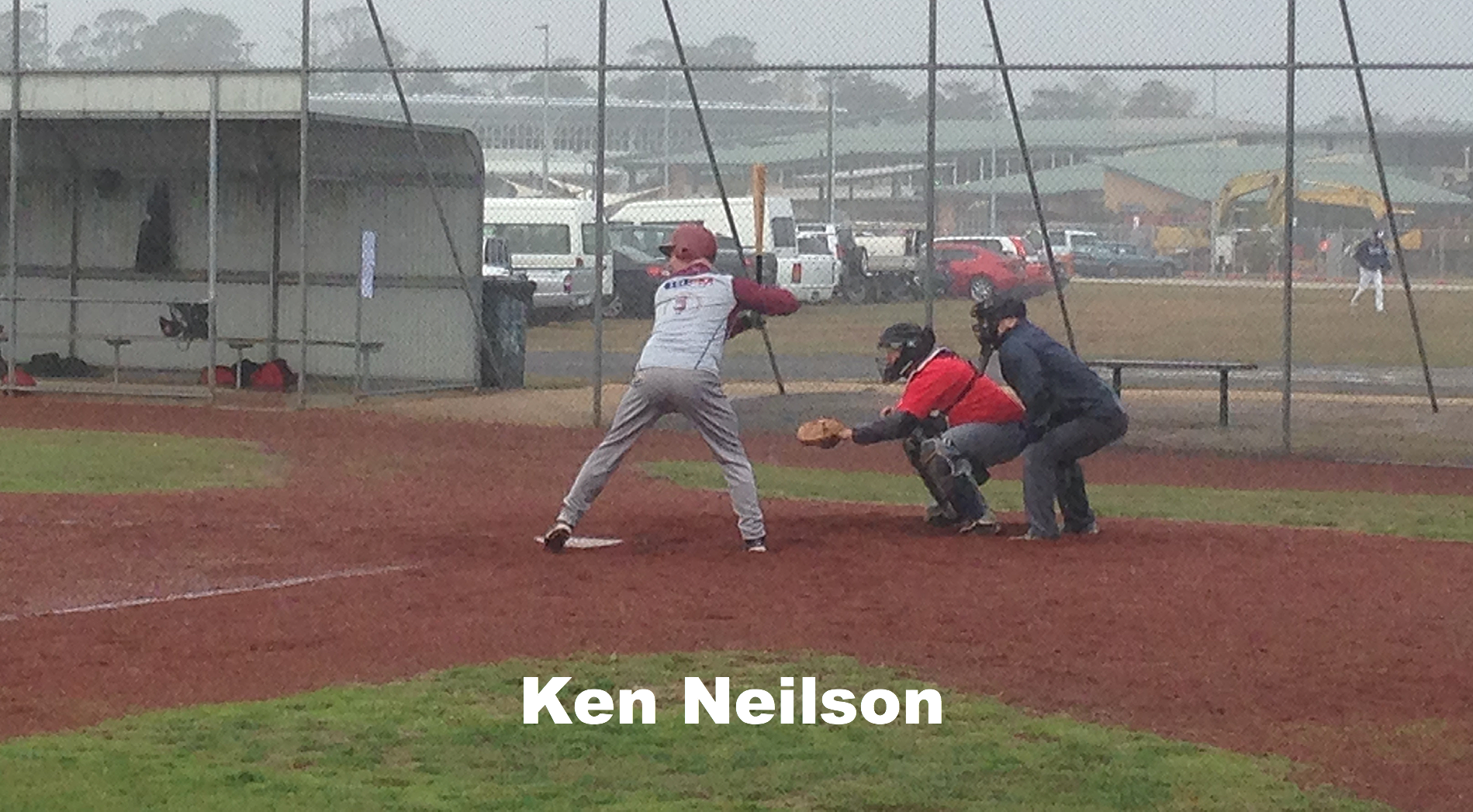 Ken at bat