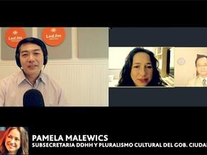 PAMELA MALEWICZ  (SUBSECRETARIA DDHH Y PLURALISMO CULTURAL GOB. CIUDAD BS. AS.)
