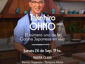 CLASE DE COCINA JAPONESA EN VIVO ! por el CHEF TAKEHIRO OHNO