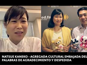 NATSUE KANEKO (AGREGADA CULTURAL SALIENTE DE LA EMBAJADA DEL JAPON EN ARGENTINA)