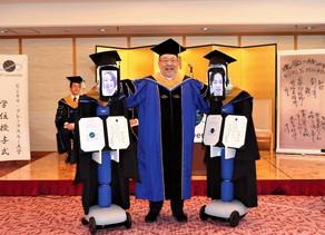 UNIVERSIDAD EN JAPON REALIZA CEREMONIA DE GRADUACION CON ROBOTS ANTE EL CORONAVIRUS