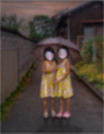 姉妹の傘.JPG