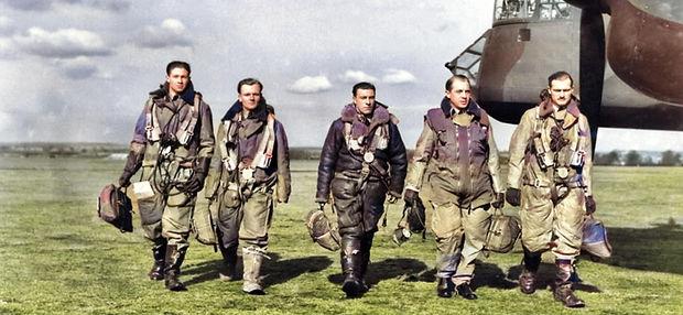 FS Arthur Stokes DFM - second from left.