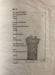 Poem No.2, etching: Red Brick