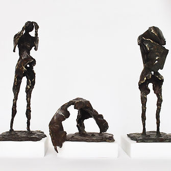 She will try not to cry and will pick you up and hold you in her broken wings, bronze on marble. to be exhibited in Society of women artist exhibition 2018, September, by Annabel MacIver