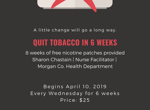 6 Week Quit Smoking Class. Starts April 10th!