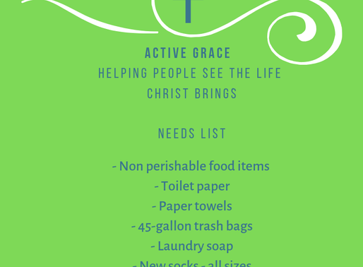 Active Grace Needs and Wants List