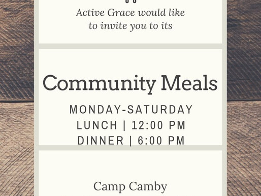 Come join us for our community meals