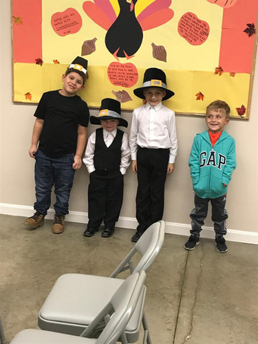 Dress-up like a Pilgrim night at Pilgrim Kids Club