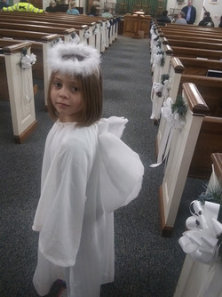 Madison was an angel during our Christmas Pagaent