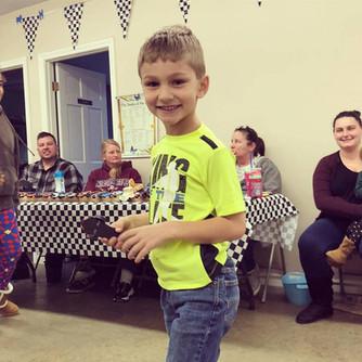 Gabriel Jr at the Pinewood Derby
