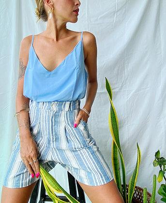 blusa alcinha azul