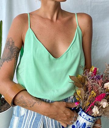 blusa alcinha verde