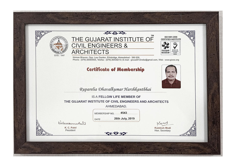 We feel humble to be certified by the prestigious institute of GICEA.