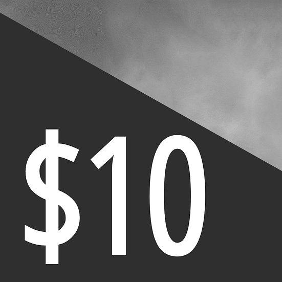 10$ Donation
