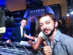 Mcavoy e nosso Cinegrafista Felipe