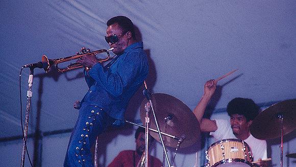 Miles Davis in concert in Central Park - NYC