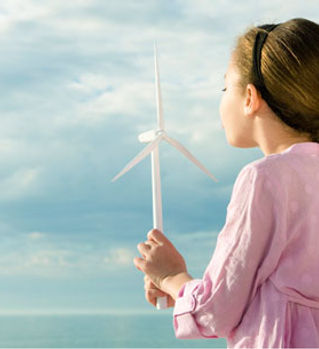 Girl with Windmill Toy