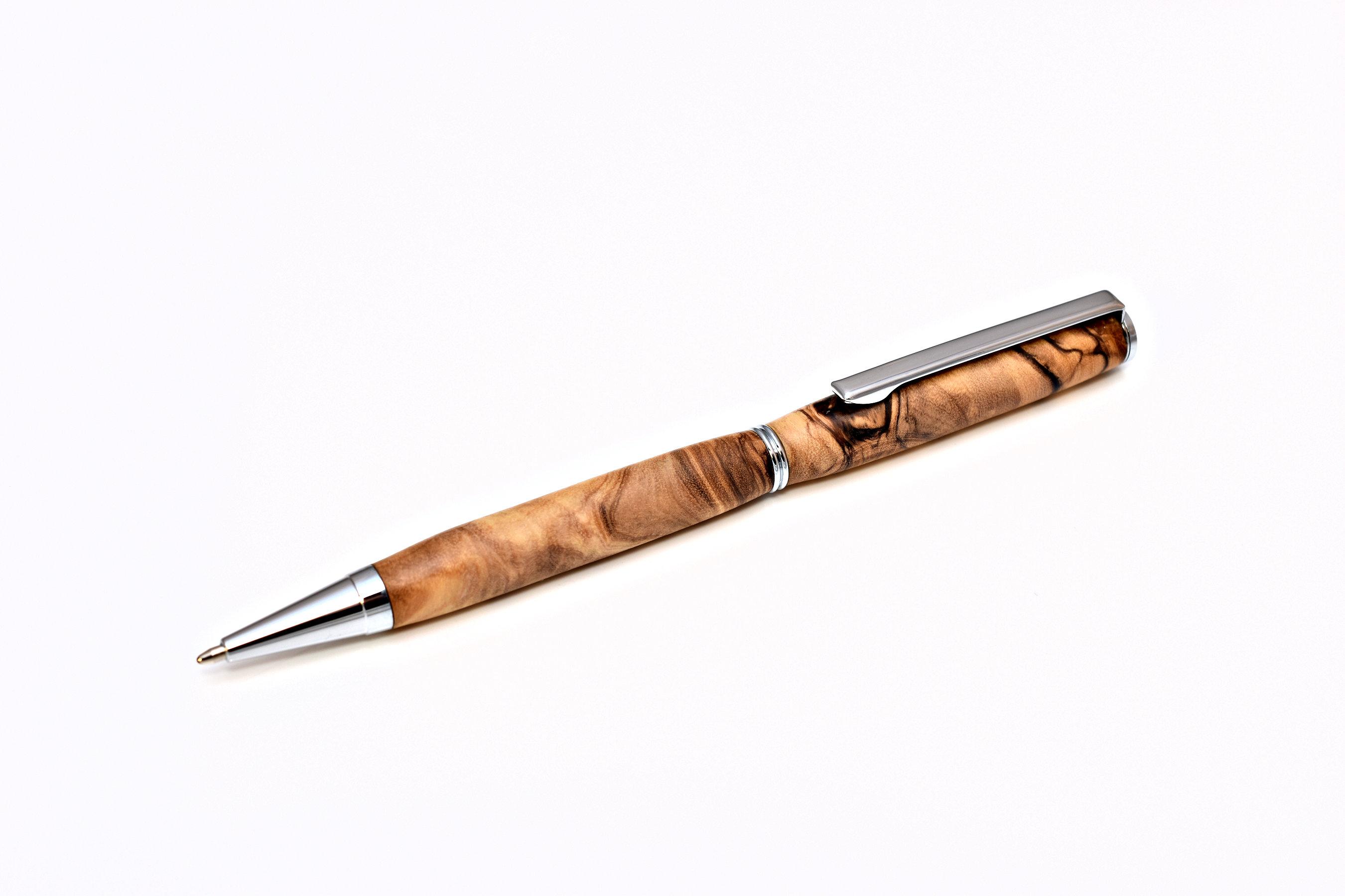 Olivenholz Kugelschreiber schmal