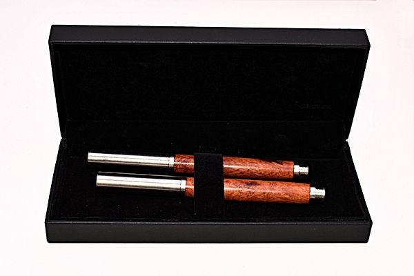 Füller und Rollerball aus Amboina Holz