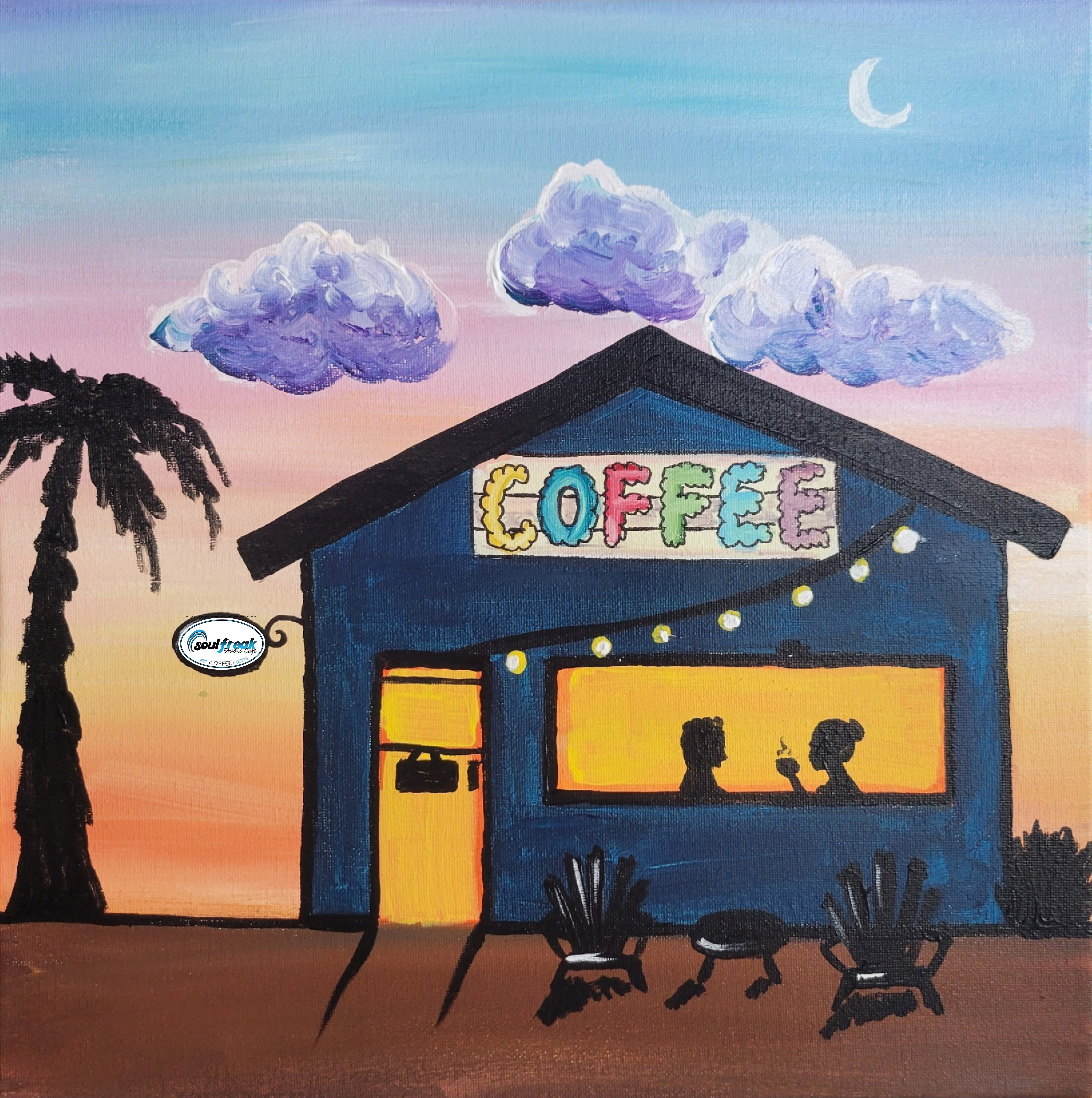 Coffee Shop Painting