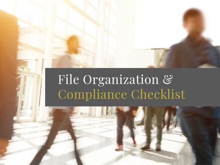 File Organization and Compliance Checklist