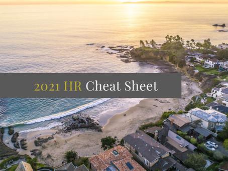 2021 HR Cheat Sheet