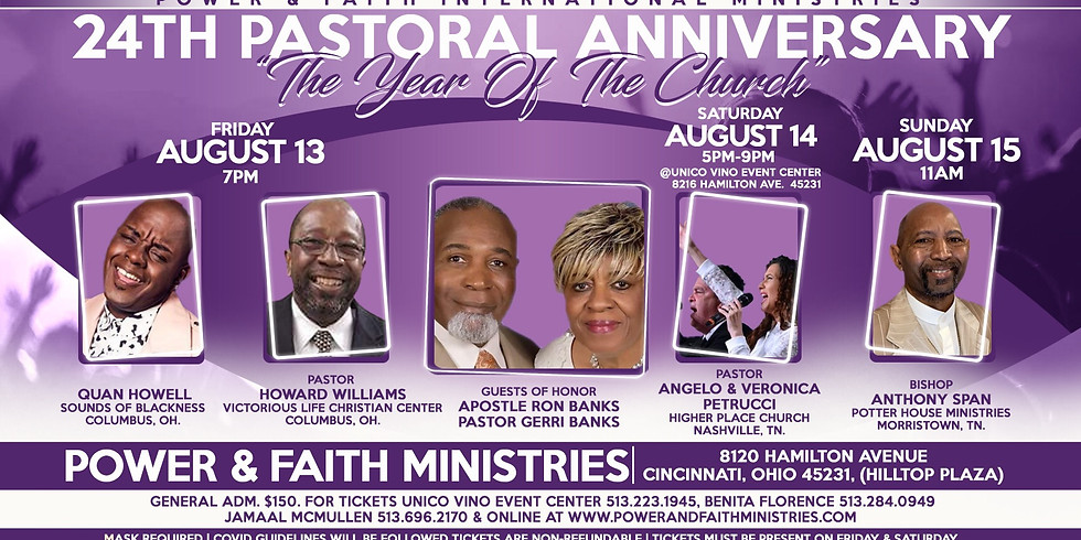"""24th Pastoral Anniversary - """"The Year of the Church"""""""