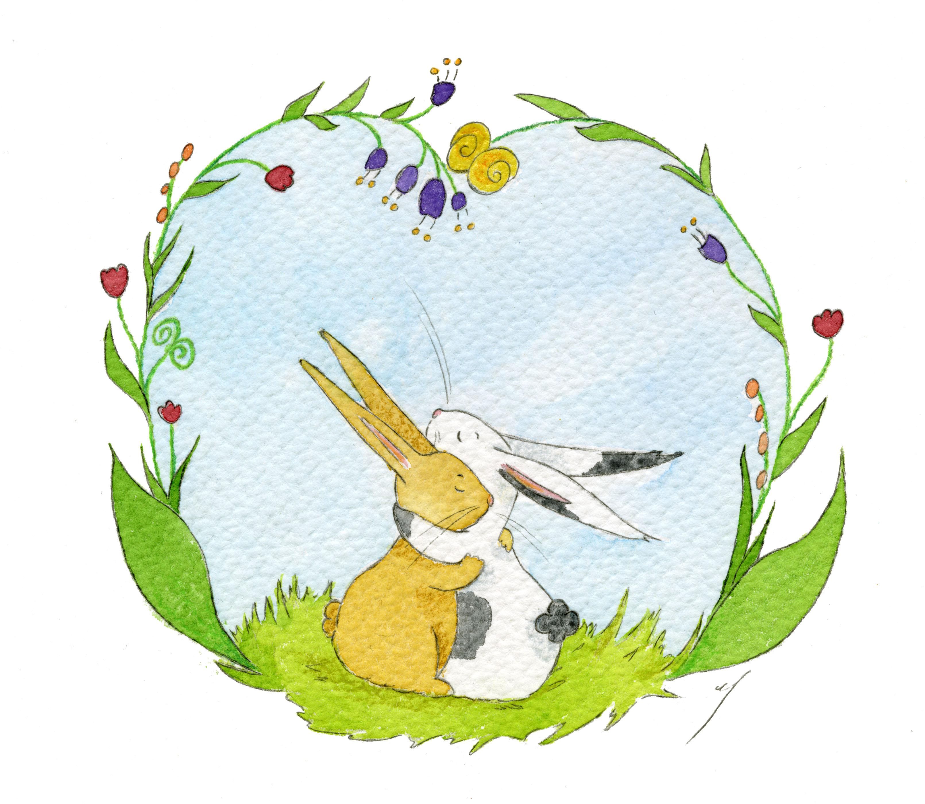 deux petits lapins