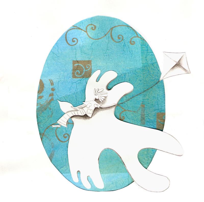 oiseau et cerf-volant