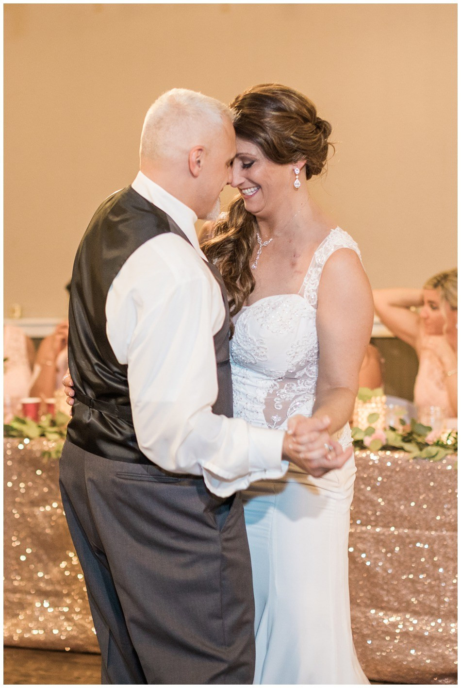 A bride and groom share their first dance at a wedding at Hidden Meadows in Snohomish, a wedding venue near Seattle.