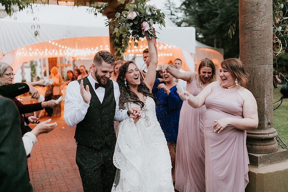 Photo of a lavender send-off by Breanna Marie Photography | My Snohomish Wedding | Snohomish Wedding Planning