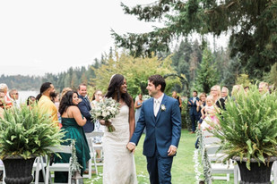 Real Snohomish Wedding: An Intimate, Serene Wedding at Green Gates at Flowing Lake