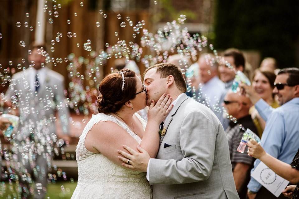 Photo of a bubble wedding send-off by GSquared Weddings | My Snohomish Wedding | Snohomish Wedding Planning