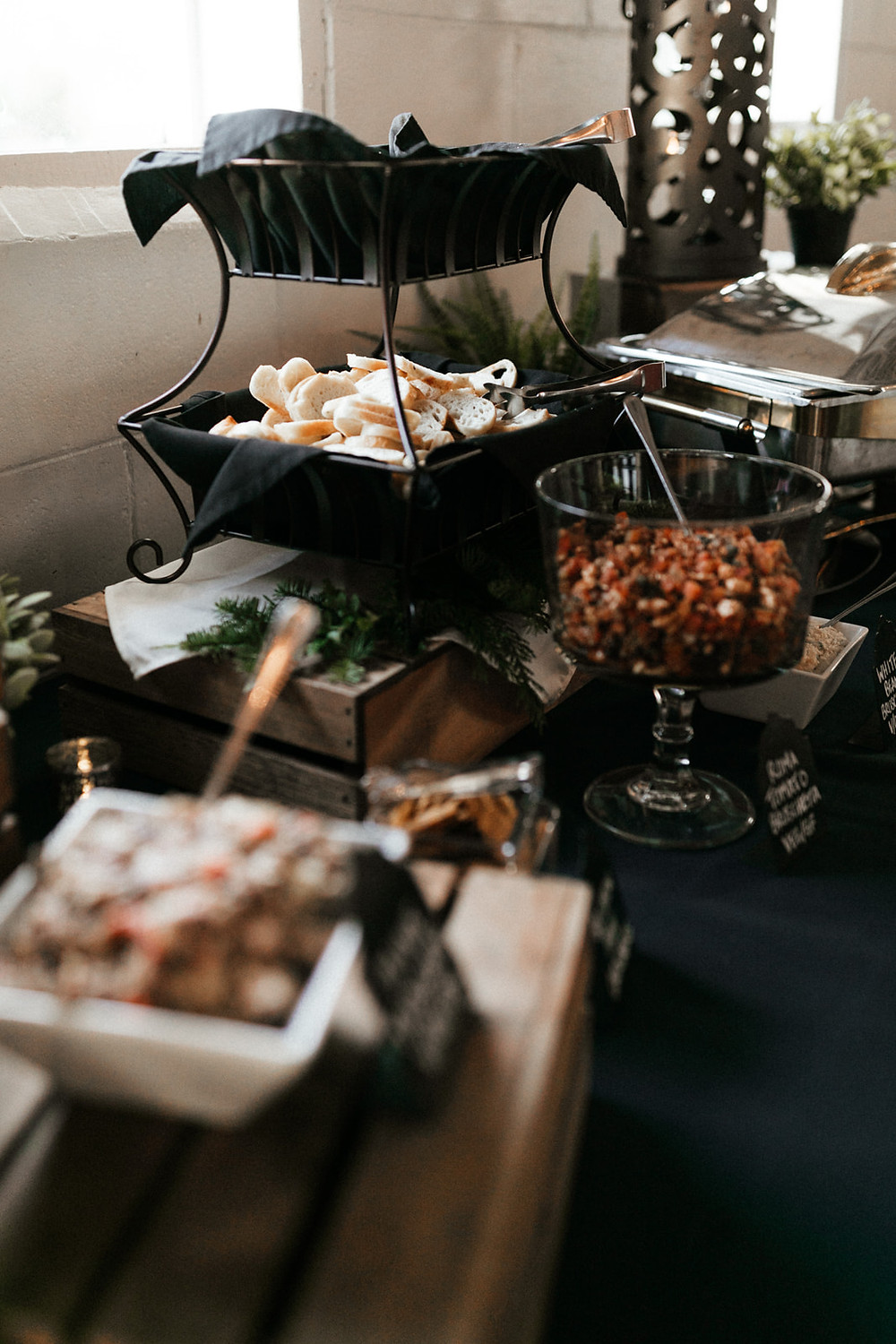 Twelve Baskets catering from a winter wedding at Dairyland in Snohomish, a wedding venue near Seattle, WA. | My Snohomish Wedding | Snohomish Wedding Planning