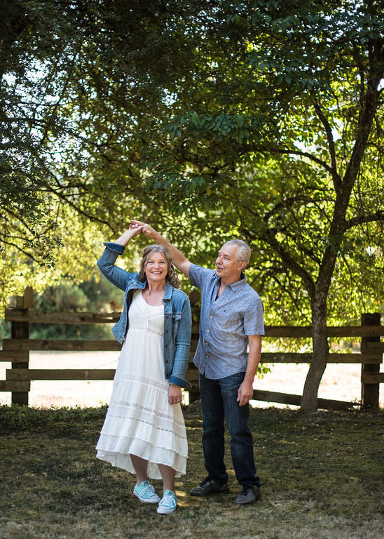 An engaged couple dances together. | My Snohomish Wedding | Wedding planning near Seattle, WA.