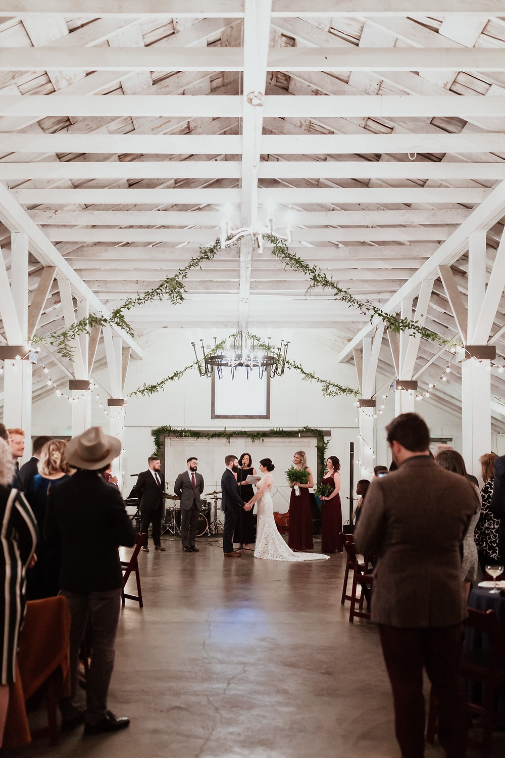 Ceremony photo from a winter wedding at Dairyland in Snohomish, a wedding venue near Seattle, WA. | My Snohomish Wedding | Snohomish Wedding Planning