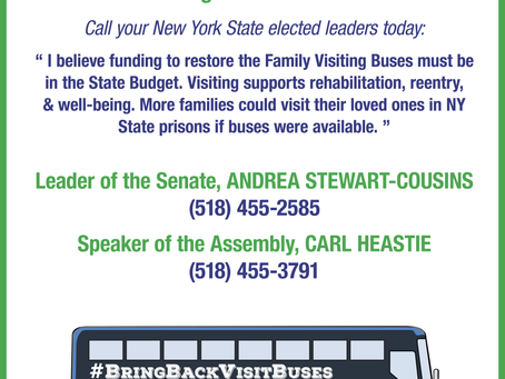 Bring Back Visiting Buses and Pass Proximity for All Incarcerated Parents Legislation
