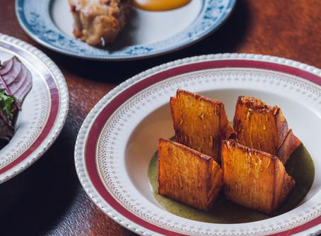 RECIPE # Crispy potato cake & burnt onion sauce