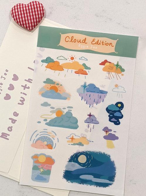 Clear Cloud Sticker Sheet