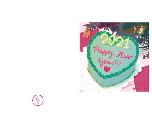 New Years Cake Card